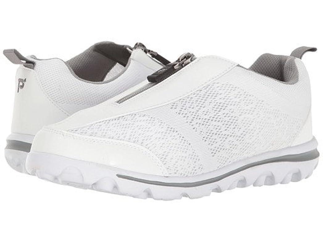 保存するファイル憂鬱な(プロペット) Propet レディースウォーキングシューズ?カジュアルスニーカー?靴 TravelActiv Zip White/Silver 9.5 26.5cm XX (4E) [並行輸入品]