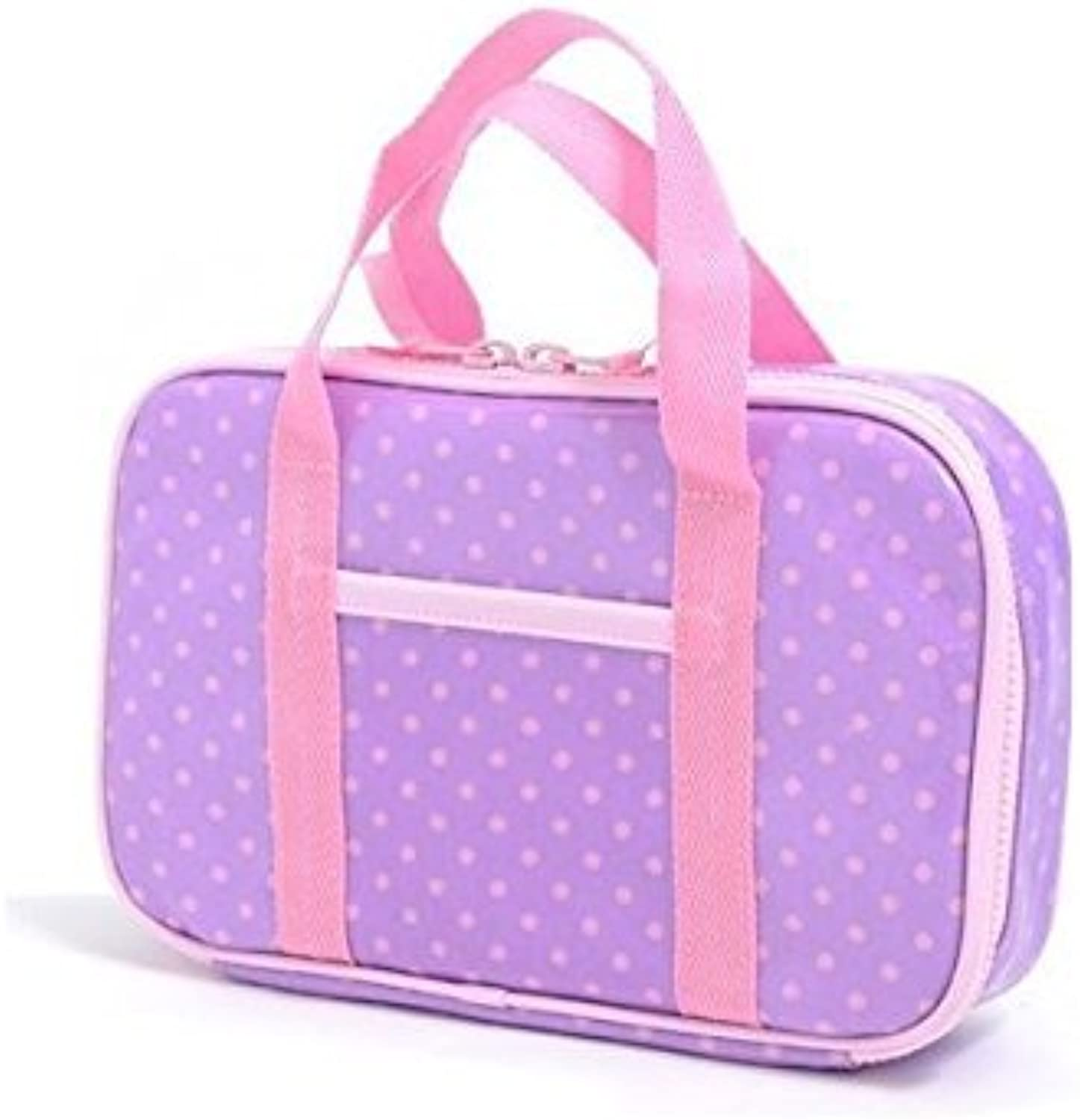 Made in Japan N2302300 (pink dots on purple ground) Kids sewing bag rated on style polka dot (bag only) (japan import)