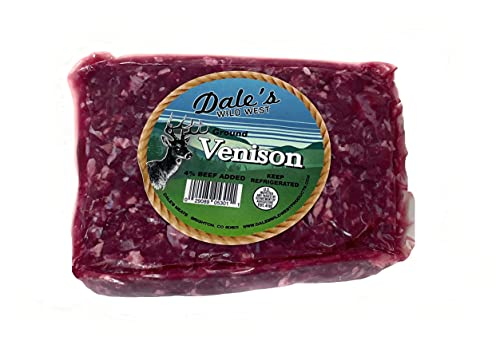 Dale's Venison Ground Bricks 4% Beef Added (4 Count / 1 Lb.) Total 4 lbs.