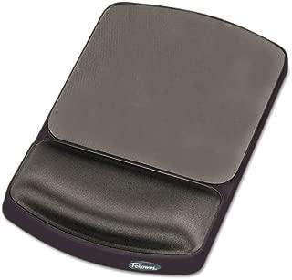 Fellowes 91741 Gel Mouse Pad w/Wrist Rest, Nonskid, 6 1/4 x 10 1/8, Platinum/Graphite