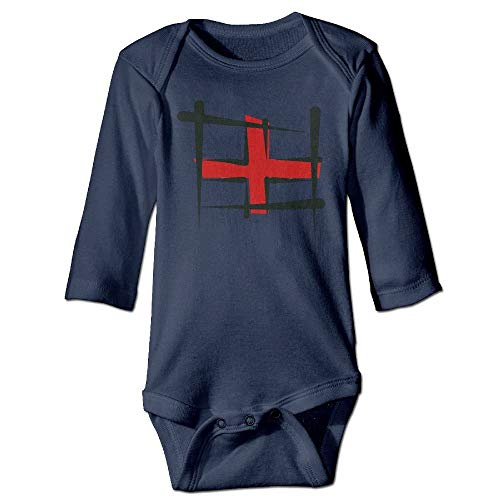 FULIYA Body de manga larga para beb, unisex, diseo de bandera de Inglaterra, color azul marino