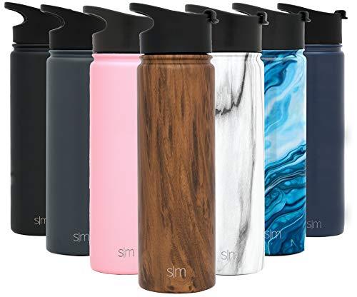 Simple Modern Summit - Botella de agua con tapa extra, aislada al vacío, boca ancha, recubrimiento de acero inoxidable 18/8 pulverizado
