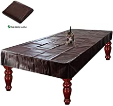 iiSPORT Leatherette Pool Table Cover, 8-Foot Heavy Duty Fitted Billiard Game Table Dust Storage Cover - Burgundy