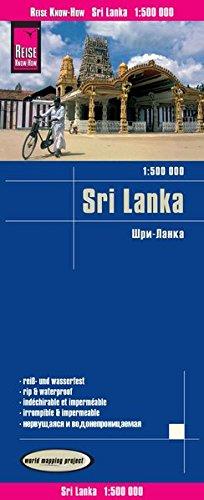 Reise Know-How Landkarte Sri Lanka  1  :500.000: worldmappingproject