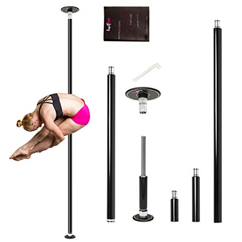 LUPIT POLE Professional Stripper Pole for Home G2 Swarovski Diamond Powder Coated Dance Pole - 45mm (1.77in) – Spinning and Static Mode - Portable and Removable Fitness Dancing Pole