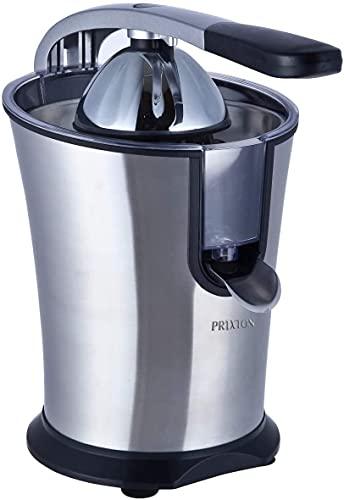 Exprimidor Electrico de Naranjas Automatico, Exprime Zumos Fácilmente con 160 W de Potencia y 800 ml de Capacidad, Negro/Acero Inoxidable, Medidas 31x20x32 cm | XP1