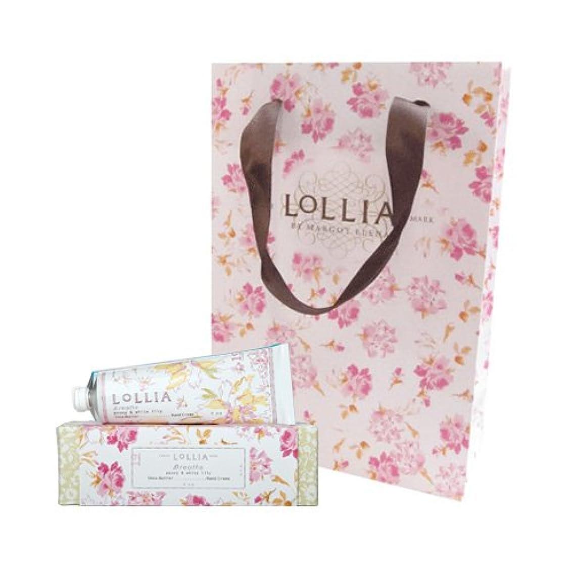 一人で容赦ない明確なロリア(LoLLIA) ハンドクリーム Breath 35g (ピオニーとホワイトリリーの甘くさわやかな香り) ショッパー付