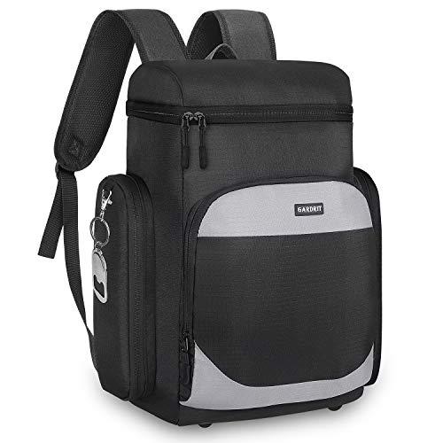 GARDRIT Insulated Cooler Backpack - Multi-Pocket Leakproof Spacious Lightweight Soft Cooler Bag...
