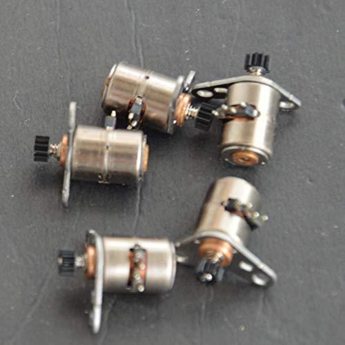 L-Yune,bolt 10pcs 6 * 8.5MM Micro-Schrittmotoren Oberteil mit schwarz Zahnrad