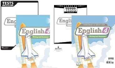 English 4 Writing and Grammar Subject KIT Bob Jones, BJU Press