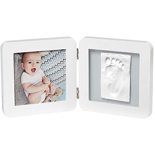 Baby Art My Baby Touch Simple Porta Foto Con Kit 1 Impronta Per Mano O Piede Del Neonato, Regalo Nascita O Bomboniera Battesimo, Bianco