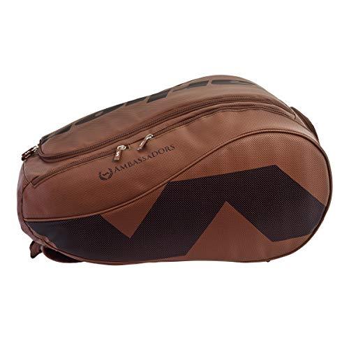 VARLION Bolso de pádel paletero Ambassadors cuero marrón