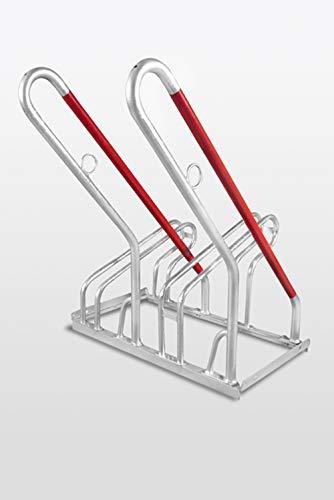 Fahrradständer Reihenparker TOP mit Anlehnbügel New York - 2 Stellplätze - einseitig - Diebstahlsicherung - mit Anlehnbügel