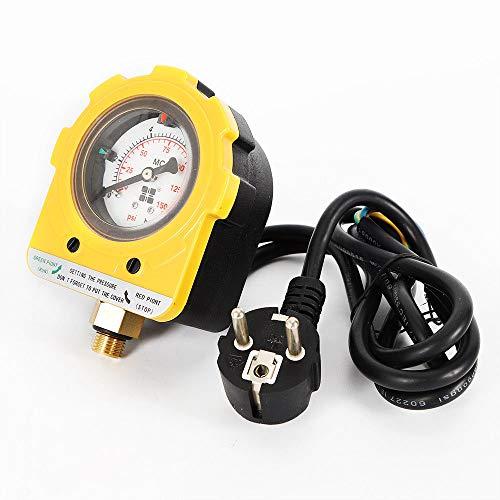 Pumpen Druckschalter, WUPYI2018 Druckkontrollschalter Pumpenschalter Druckregler 0-10 Bar für Tauch Tiefbrunnenpumpen und Betriebsdruck