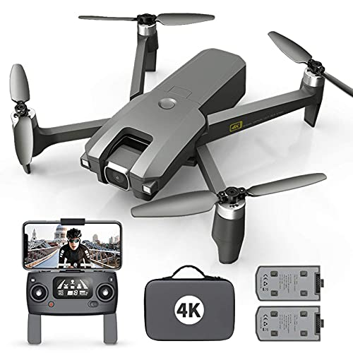 DCLINA Drone con Fotocamera per Adulti 4K Full HD FPV Live Video 120 ° Grandangolo Altitudine Mantenimento modalità Senza Testa Gesto Selfie Waypoint Funzioni con