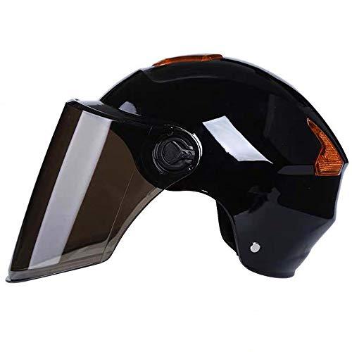 ZYW Motorradhelm Brille Halbschalenhelm Elektroauto Helm Männer Und Frauen Sonnenschutz Vier Jahreszeiten Universal-Außenreithalbschalenhelm Helm,Rosa