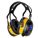 Gardtech - Auriculares de protección auditiva con radio / Bluetooth / MP3, protección auditiva de seguridad con NRR 29dB, para hombres y mujeres, protección para tiro y segar (amarillo)