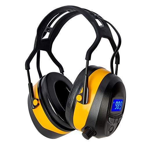 Gehörschutz, Gardtech Kapselgehörschutz mit Radio / Bluetooth / MP3, Sicherheits-Ohrenschützer mit NRR 29dB, Lärmschutzkopfhörer für Männer und Frauen, Schutzkopfhörer zum Schießen und Mähen (Gelb)