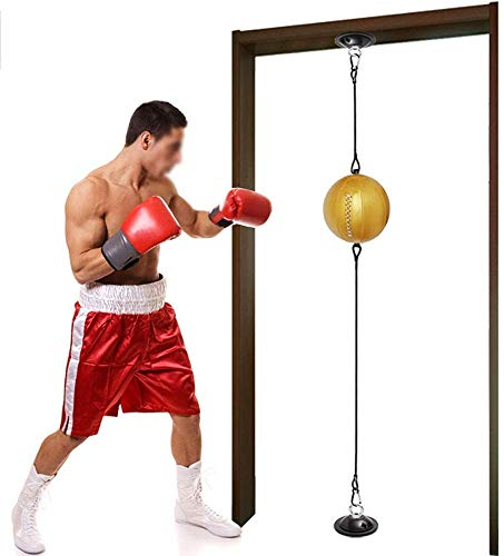 Portable bokstraining Speed ​​Ball - PU lederen materiaal Speed ​​Boxing Balls - Speed ​​bokszak met zuignap Fixing Opknoping Swivel - Workout Speedball Boxing Reaction Ball,A