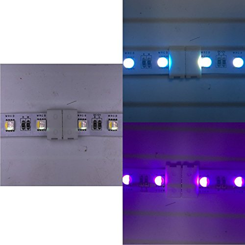 Kabenjee 5x 5pin RGBW/RGBWW LED Strip Light 10mm Wide Connection Cable,RGBW LED Stripe 17cm Long Converter Adapter Corner Connector to the Controller,Solderless Extension Connector Jumper(5 wire)