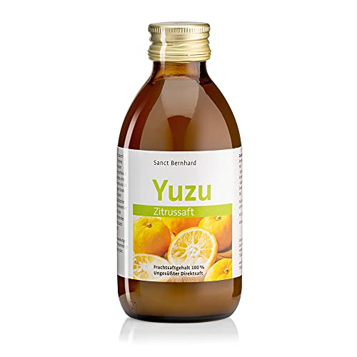 Sanct Bernhard Yuzu-Vitalsaft, Fruchtsaftgehalt 100 %, ungesüßter Direktsaft, Inhalt 200ml