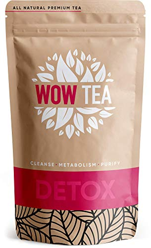 WOW TEA Detox Тее - 21 tage detox tee | Programm zur tiefen Körperreinigung | Entgiftung tee | Detox teemischung mit Yerba-Mate, Grüner Tee, Pu-erh | 150g, Made in EU