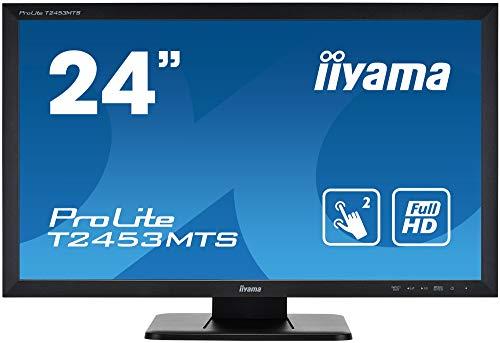 "iiyama Prolite T2453MTS-B1 59,8 cm (23,6"") VA LED-Monitor Full-HD 2 Punkt Multitouch optisch (VGA, DVI, HDMI, USB2.0) schwarz"