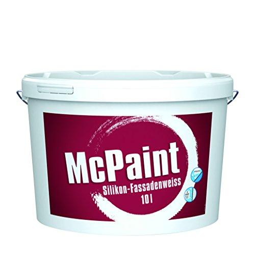 bester der welt McPaint White Silikon-Außenfassade, Lotusformel und zusätzlicher UV-Schutz, Weiß, 10 l 2021