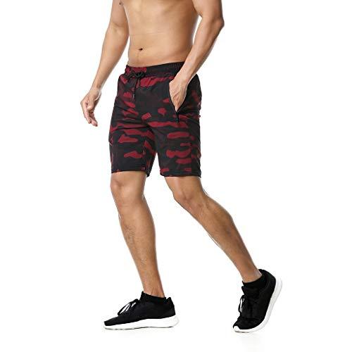 ELECTRI Shorts de Plage d'été Hommes Poche de Natation Maillots de Bain à séchage Rapide Workout Running Shorts Motion Plus Size