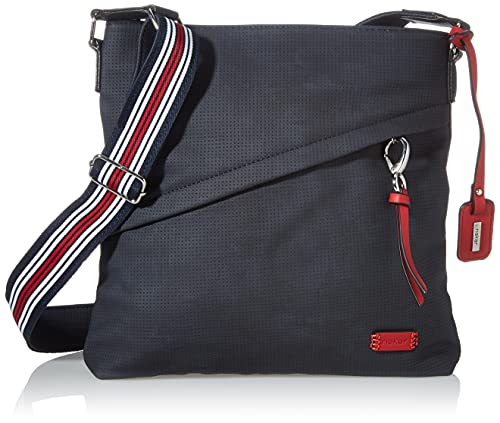Rieker Damen H1040 Handtasche, Blau, 300x50x280