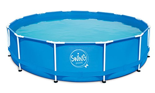 Ambientehome Frame Piscina con Bomba de Filtro, Color Azul, 305x 305x 76cm, 4542L, 26029