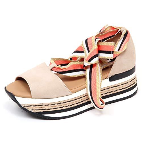 Hogan F4152 Sandalo Donna beige H360 Scarpe Sandal Shoe Woman [40]