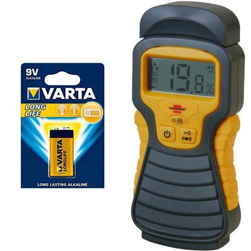 Varta Longlife Batterie 9V Block Alkaline Batterien 6LP3146 - 1er Pack (Design kann abweichen) +...