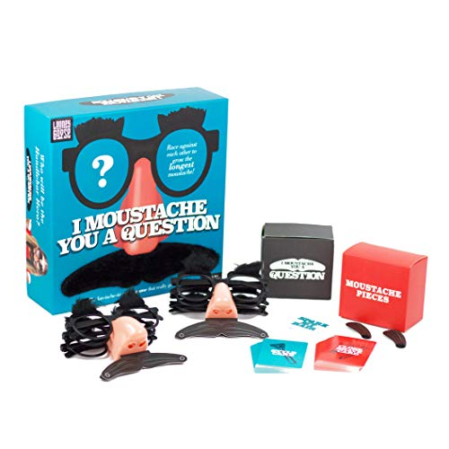 I Moustache You A Question - Party Game / Game of Trivia - The Ultimate Facial Hair face-Off Trivia Quiz Game by Looney Goose.