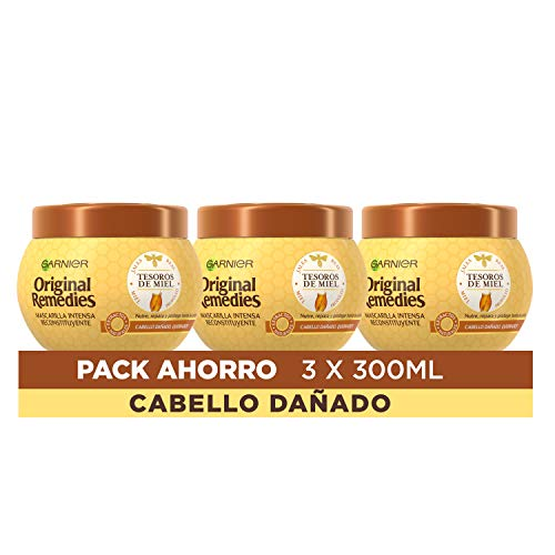 Garnier Original Remedies Mascarilla Tesoros Miel - Pack de 3 x 300 ml