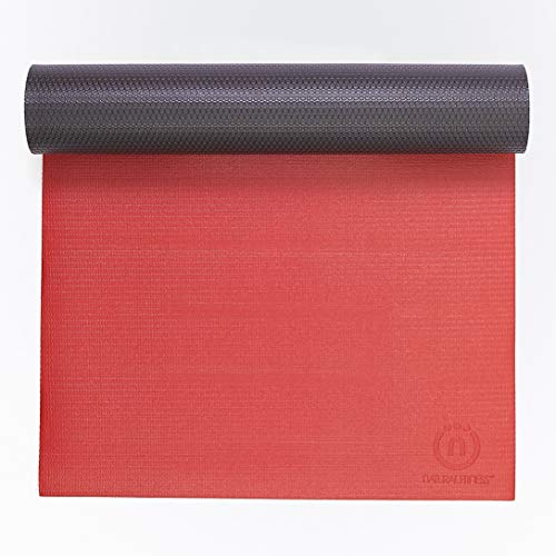Natural Fitness 5mm Thick Warrior Yoga Mat Designed for Comfortable Support and Studio Use - Lightweight