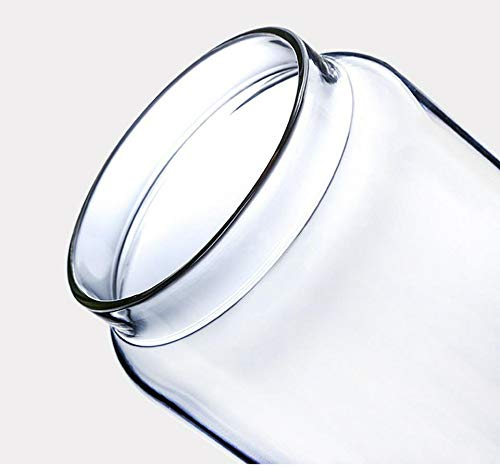 FANXQ Madera Tapa de Vidrio hermético, Bote almacenaje de la Cocina Botellas tarros, Frijoles envase de alimento Granos Granos de café té Caramelo contenedores Jar,1.25L