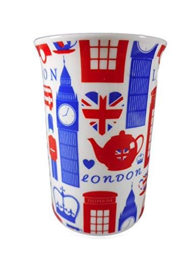 mug 1 Tasse London 11,5 x 11 cm UK Becher Kaffetasse Kaffeebecher Deko GOR 839 A