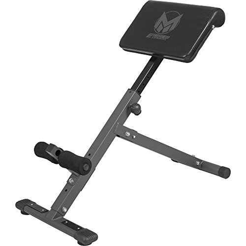 GYRONETICS Rückentrainer klappbar Hyperextension - Bauchtrainer verstellbar mit gepolsterter Beinfixierung Schwarz