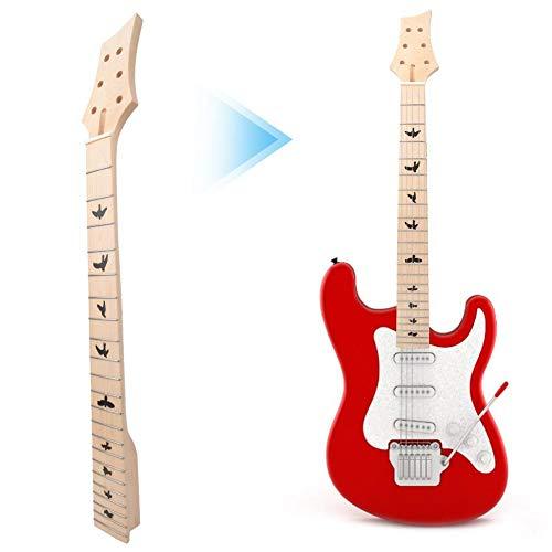 Holzgitarrenhals, 22 Bünde Hochwertiger Ahornholz-E-Gitarrenhals für Anfänger von Instrumentenliebhabern
