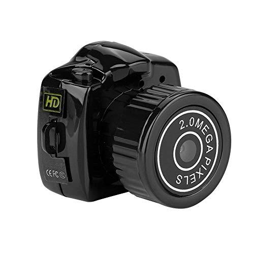 Tosuny Mini HD Cámara, Cámara de Video Digital Micro Oculta de Visión Nocturna Mini DVR DV Cámara, Compatible con 32 GB Tarjeta TF, Fotos de 1280 * 720