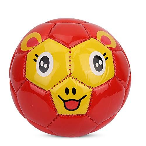 SolUptanisu Kinder Fußball, PVC Junior fußball Soccer Ball Innen draussen Sportspiele Ausrüstung, Größe 2 (Rot)