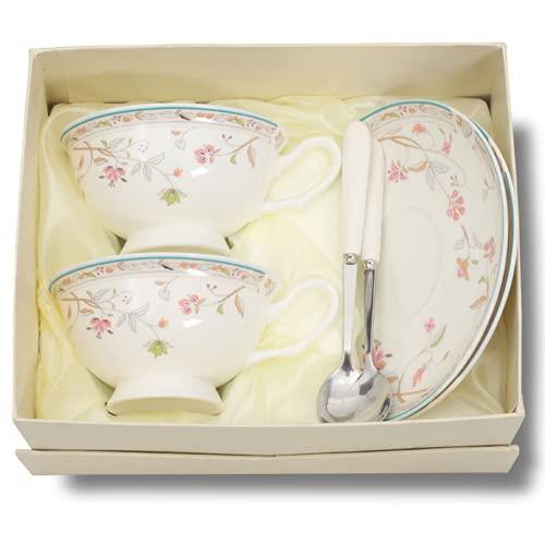 Juego de Taza y platillo Estilo Europeo Art Bone China Taza de café de té de cerámica para Desayuno Cocina casera(F)