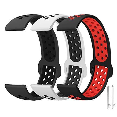 Younsea Correas 20mm para Galaxy Watch Active 2/Active 40mm 42mm, Silicona Reemplazo Correas Compatible con Galaxy Watch 3 41mm/Gear S2 Classic/Gear Sport/Vivoactive 3/Vivomove HR