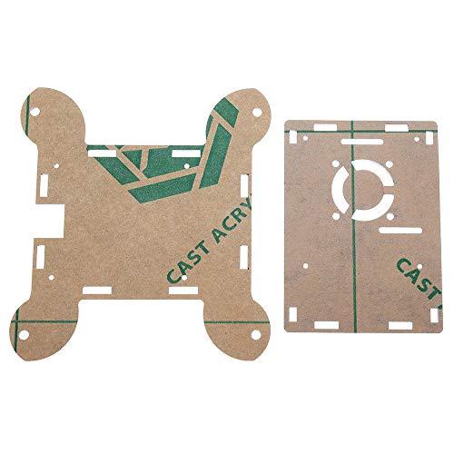 SHANG-JUN Fácil de Montar Pared de acrílico Negro montado en la Caja Protectora Soporte Ventilador de refrigeración for Raspberry Pi Modelo B 4 3 Piezas Conveniente