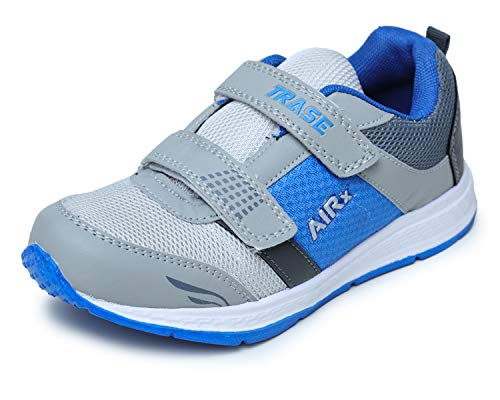 TRASE Stylish Sports,Running Shoes for Boys - Grey Blue, 4 UK