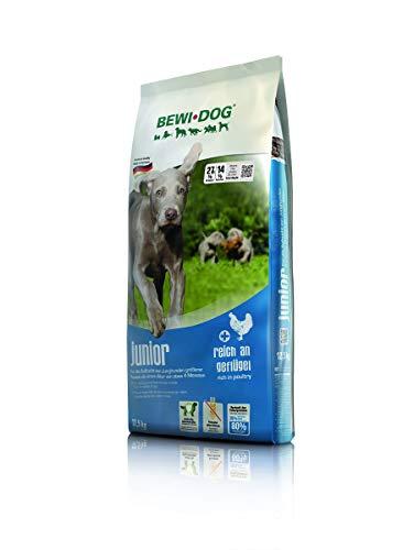 BEWI DOG Junior [12,5 kg] Hundefutter | Trockenfutter für junge Hunde ab 4. Monat | ohne Weizen & Soja | 80% tierisches Eiweiß