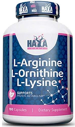 Tri-Amino Acid Complex L-Arginine L-Ornithine L-Lysine 100 Capsules Lean Muscle Mass Builder