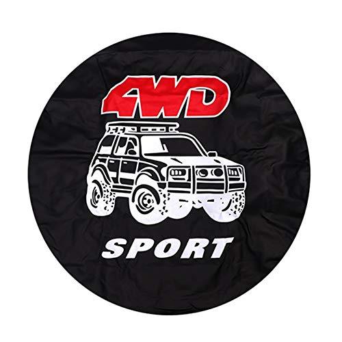 Funda Rueda Repuesto Accesorios de coches 4WD Serie PVC cubiertas de neumáticos de repuesto 14 15 16 17 Pulgadas de repuesto cubierta de rueda de ajuste for el Mitsubishi Pajero 4 Universal de neumáti