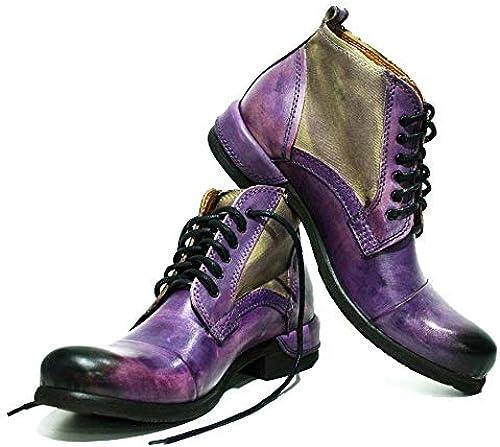 Peppeschuhe Modello Parione - - - Handgemachtes Italienisch Bunte Herrenschuhe Lederschuhe Herren lilat Stiefel Stiefeletten - Rindsleder Handgemalte Leder - Schnüren  Guter Preis